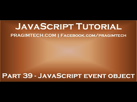 JavaScript event object