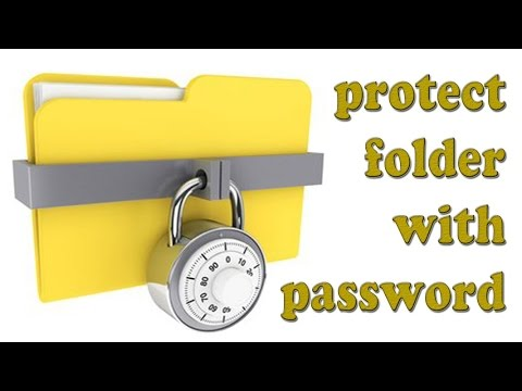 How to protect folder with password without any software