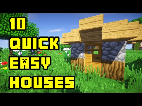 Minecraft: 10 Quick and Easy House Tutorials Xbox/PC/PE/PS3