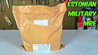 Testing Estonian Military MRE (24Hr Combat Food Ration)