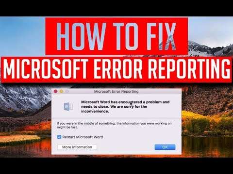 How to fix Microsoft Office 2013/2016 for Mac has encountered a problem and need to close.