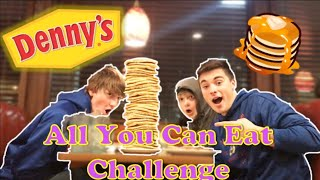 Dennys ALL YOU CAN EAT Pancake Challenge | LMK Sports
