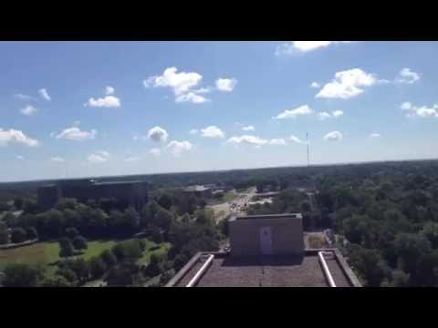 Roof top view from IU Eigenmann Hall tallest building on campus