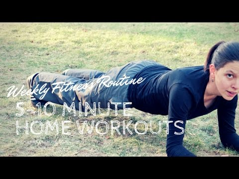 Weekly Fitness Routine | Simple & Effective 5-10 Minute Home Workouts