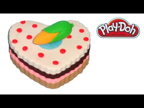Play-Doh Cake with Corn Topper