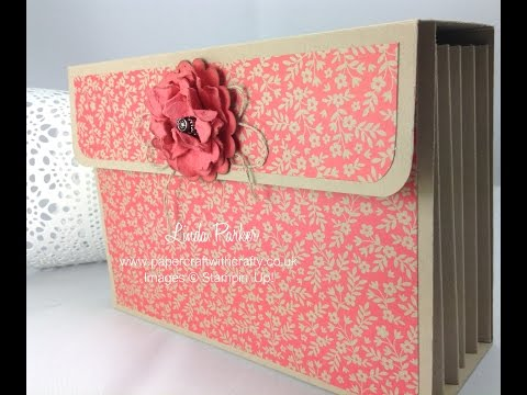 Accordion File for Six C6 Cards or Six Textured Impressions Embossing Folders