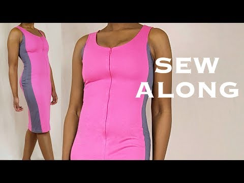Bodycon Color Block Dress Tutorial (sew Along)