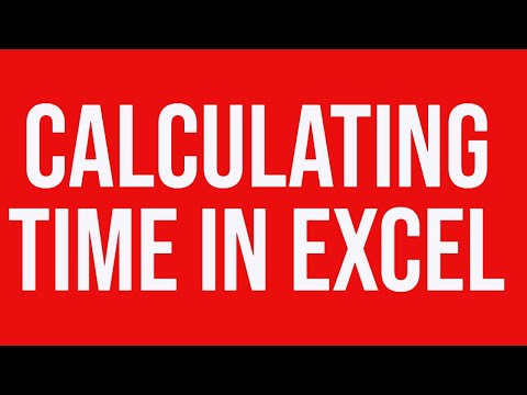 Calculating time in MS-Excel