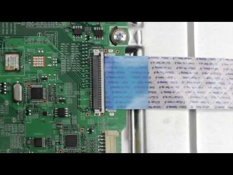 TV Ribbon Cable Connector - How to Install and Remove