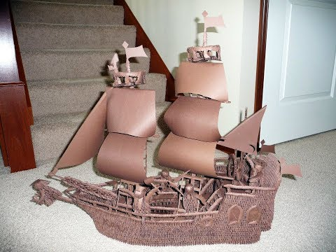 How to Make a 3D Origami Pirate Ship With the 4 Cute Pirates Step by Step