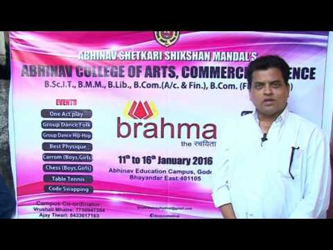 Wishes to BRAHMA FESTIVAL from great actor Mr. Sharad Ponkshe