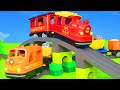 Download Fire Truck, Trains, Tractor, Police Cars, Excavator, Trucks & Construction Toy Vehicles for Kids In Mp4 3Gp Full HD Video