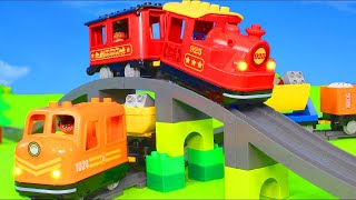 Fire Truck, Trains, Tractor, Police Cars, Excavator, Trucks & Construction Toy Vehicles for Kids