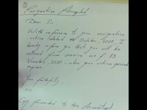 Letter Writing: Resignation Letter