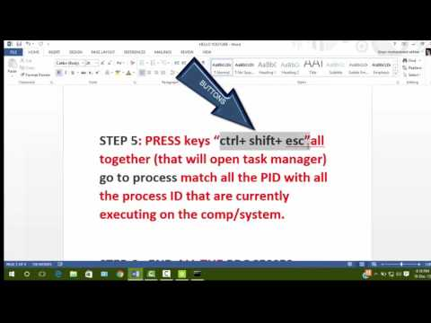 How to find hacked process in your computer AND Delete hacked one