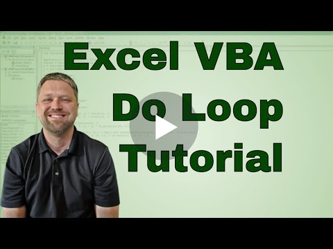 #9 VBA Excel Do While Loop Tutorial