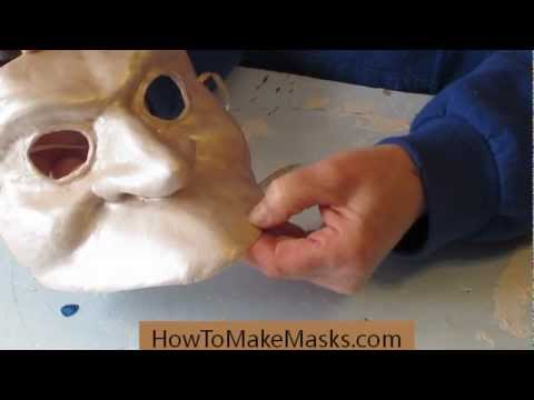 Bauta Masks - Making Paper Mache Masks Smooth