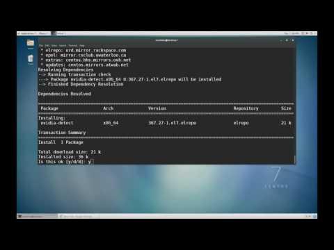 CentOS 7 - Terminal - Installing Nvidia GPU Driver with Nvidia Detect