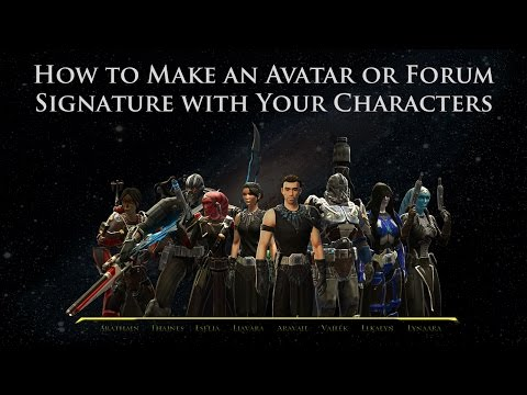 How to Make an Avatar or Forum Signature with your MMO Characters