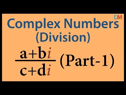 Complex Numbers - Division Part 1