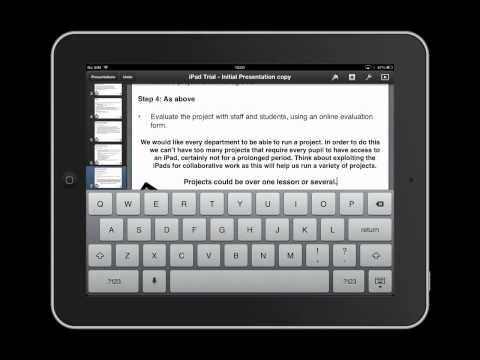iPad Keyboard - Tutorial