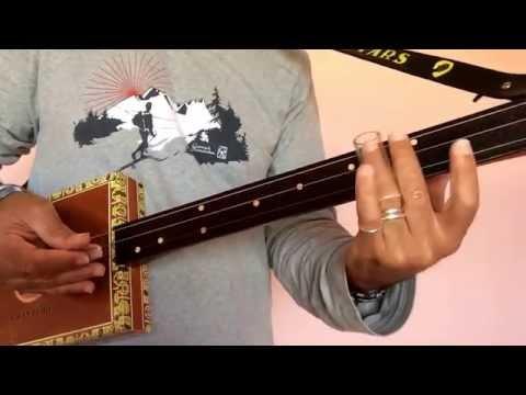 12 bar blues easy progression for a cigar box guitar