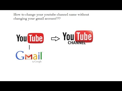 How to change your youtube channel name without changing your gmail account or account name.(Hindi)