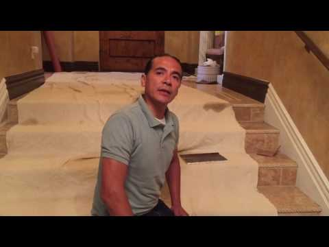 Armando Garate from Garate's Interiors Explains Installing Baseboard on a Staircase