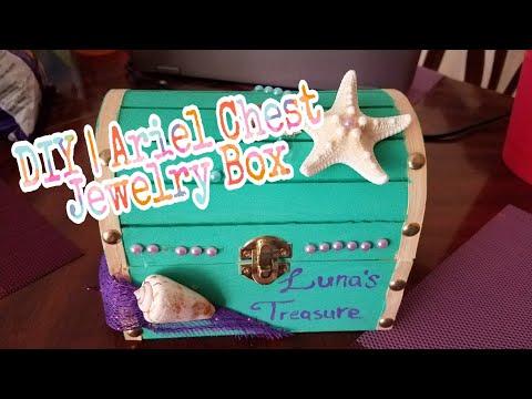 DIY   Ariel Inspired Treasure Chest / Jewelry Box