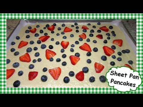 How To Make Sheet Pan Pancakes ~ Easy Fluffy Breakfast Pancake Recipe