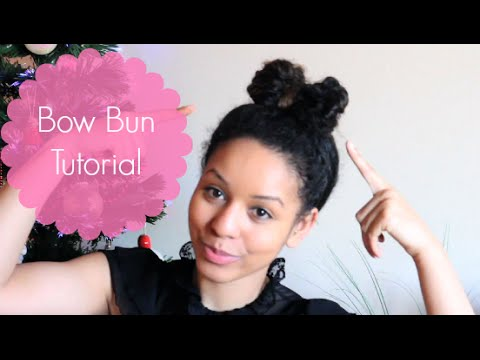 How To: Bow Bun With Curly Hair