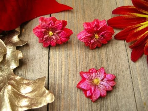 Poinsettia Earrings ~ Featuring Miriam Joy