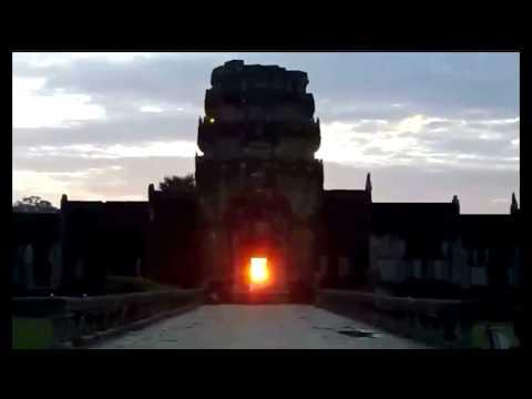 Amazing sunrise at Angkor Wat Temple