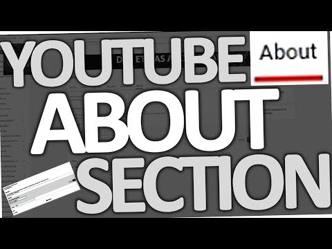 How to change Youtube About Section description (2018)