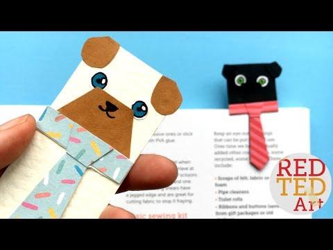 Easy Pug Bookmark Idea - Hug a Book Bookmark Designs