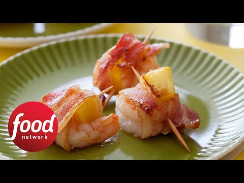 Rachael's Bacon-Wrapped Pineapple Shrimp | Food Network