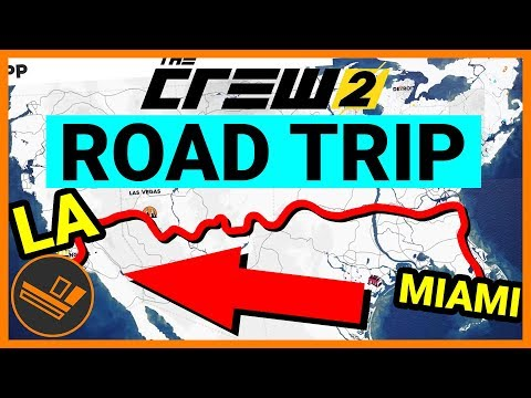 The Crew 2 CROSS COUNTRY ROAD TRIP (Florida to Los Angeles) - Gameplay