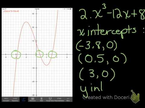 Using Desmos to Find the x intercepts of a Polynomial Function MCT4C