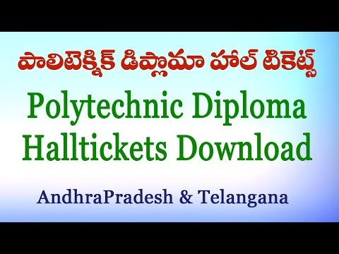 How to Download Polytechnic Diploma Exam Hallticket