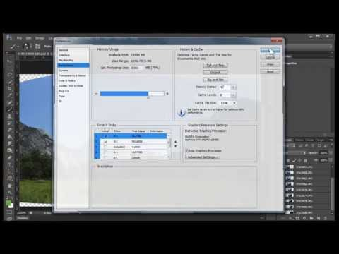 How To Set Up Photoshop To Work With Very Large Files