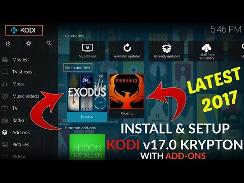 Install & Setup Latest KODI v17.0 Krypton & Addons 2017! Watch Movies, TV Shows & Cable TV For FREE