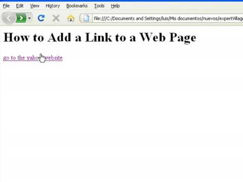 How to Create Web Pages Using HTML : How to Add a Link to a Web Page