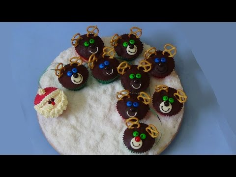 how to make santa's sleigh cupcakes