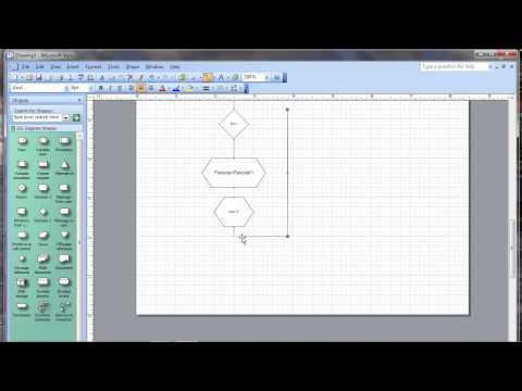 Trutorial pembuatan Flowchart - faktorial dengan menggunakan microsoft office visio 2003