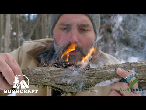 Bushcraft: Building a Camp Shelter, Alone in Winter  (Part Two)