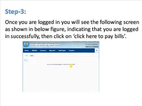 how to pay BWSSB bill payment online