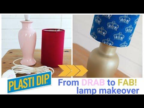 DIY Lamp makeover using Plasti Dip