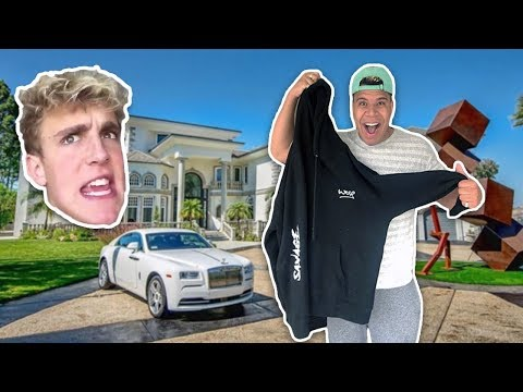 HAND DELIVERING MY MERCH TO JAKE PAUL'S HOUSE!!