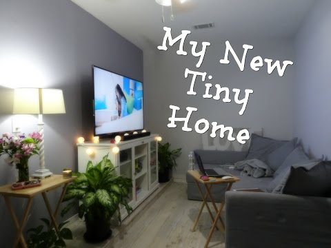 Tour of My Tiny Room - Garage renovated into a living area!