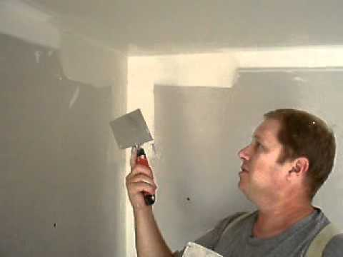 Finishing inside corners with a double sided corner knife